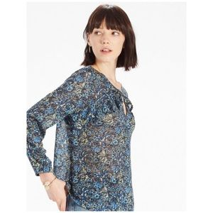 Lucky Brand • floral ruffled boho top blouse